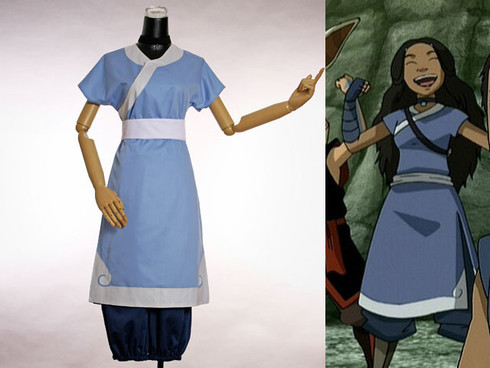 Avatar Cosplay Katara 4pcs Costume