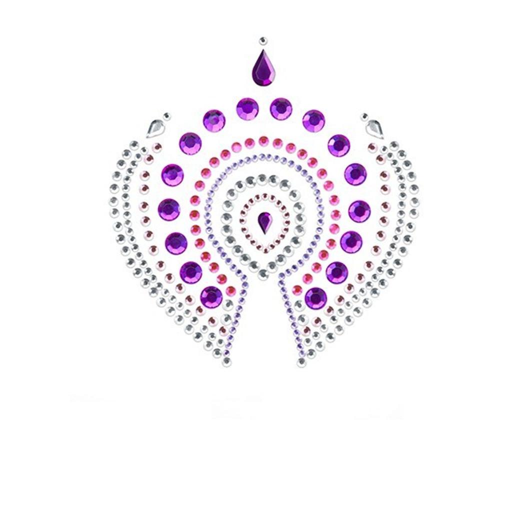 Bijoux Indiscrets Flamboyant Crystal Pasties - Pink/Purple