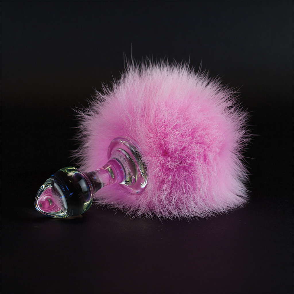 Bunny Tail Magnetic  Crystal Butt Plug-2889