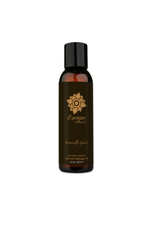 Sliquid Organics Sensual Massage Oil Escape Unscented - 4.2oz