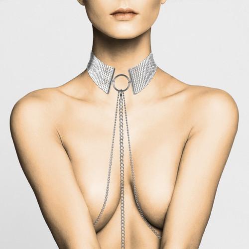 Bijoux Desir Metallique Collection Silver Mesh Collar
