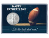 Father's Day Silver Eagle Acrylic Display - Football Theme