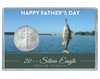 Father's Day Silver Eagle Acrylic Display - Fishing Theme