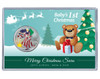 Baby's First Christmas Silver Eagle Acrylic Display - Green