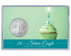 Birthday Silver Eagle Acrylic Display - Green Cupcake