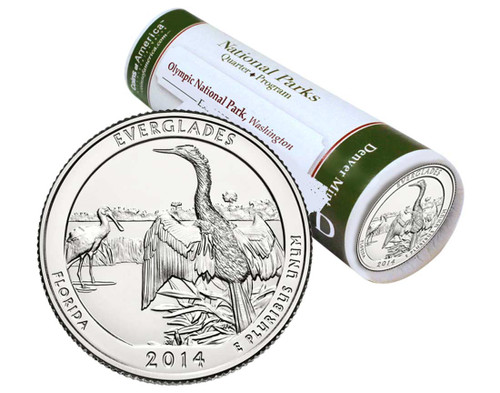 Everglades National Park D Mint Quarter Roll