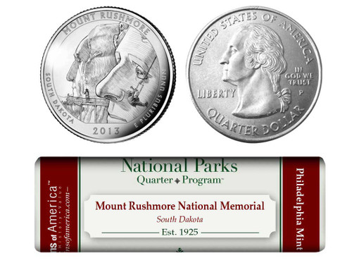 Mount Rushmore National Memorial P Mint Quarter Roll