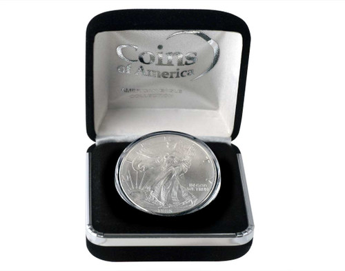 1995 Silver Eagle In Velvet Box