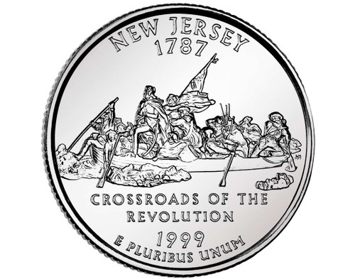 1999 New Jersey Quarter D Mint