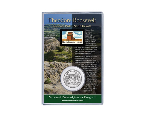 Theodore Roosevelt National Park Coin & Stamp Set