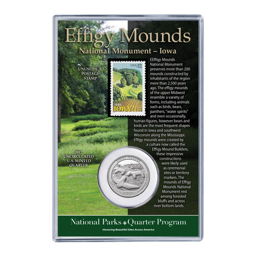 Effigy Mounds National Monument Coin & Stamp Set
