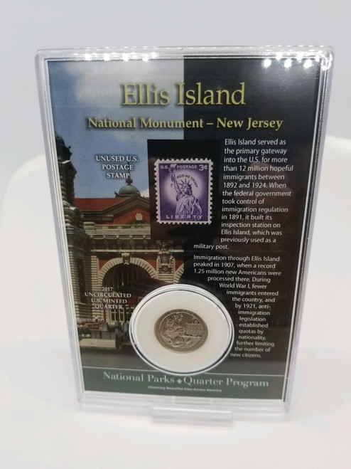 Ellis Island NP Coin & Stamp