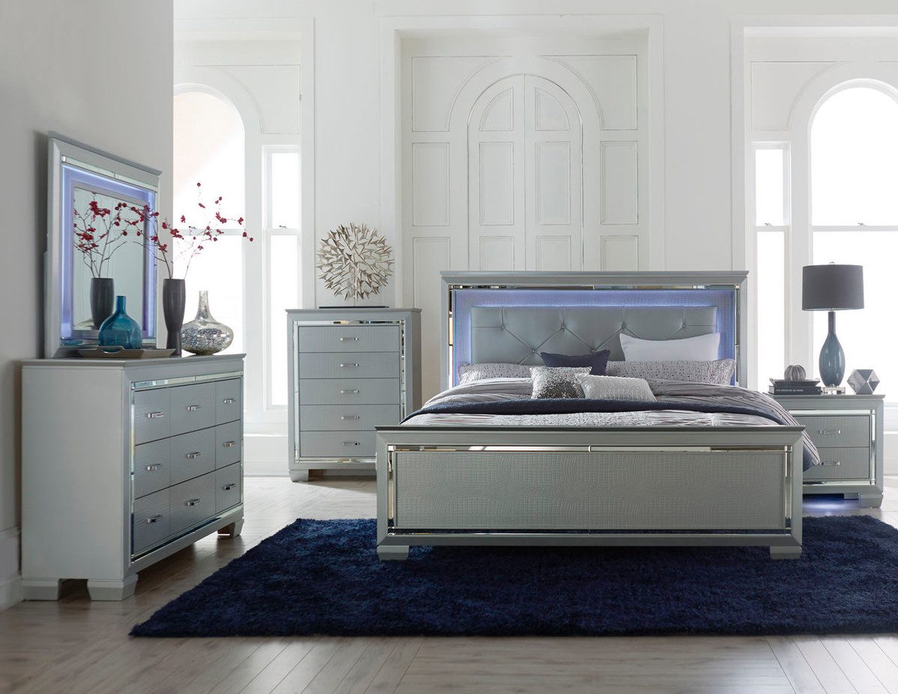 Homelegance Allura Dresser Featuring Touch-Engaged LED Lighting ...