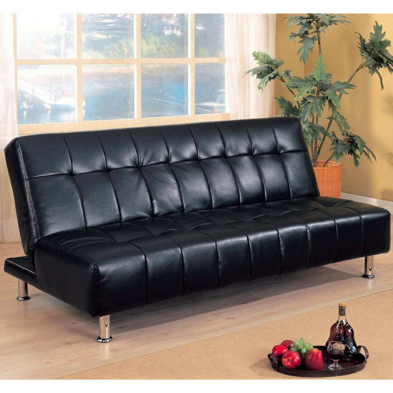 Coaster Maryland Contemporary Sofa Bed in Black - DealBeds.com