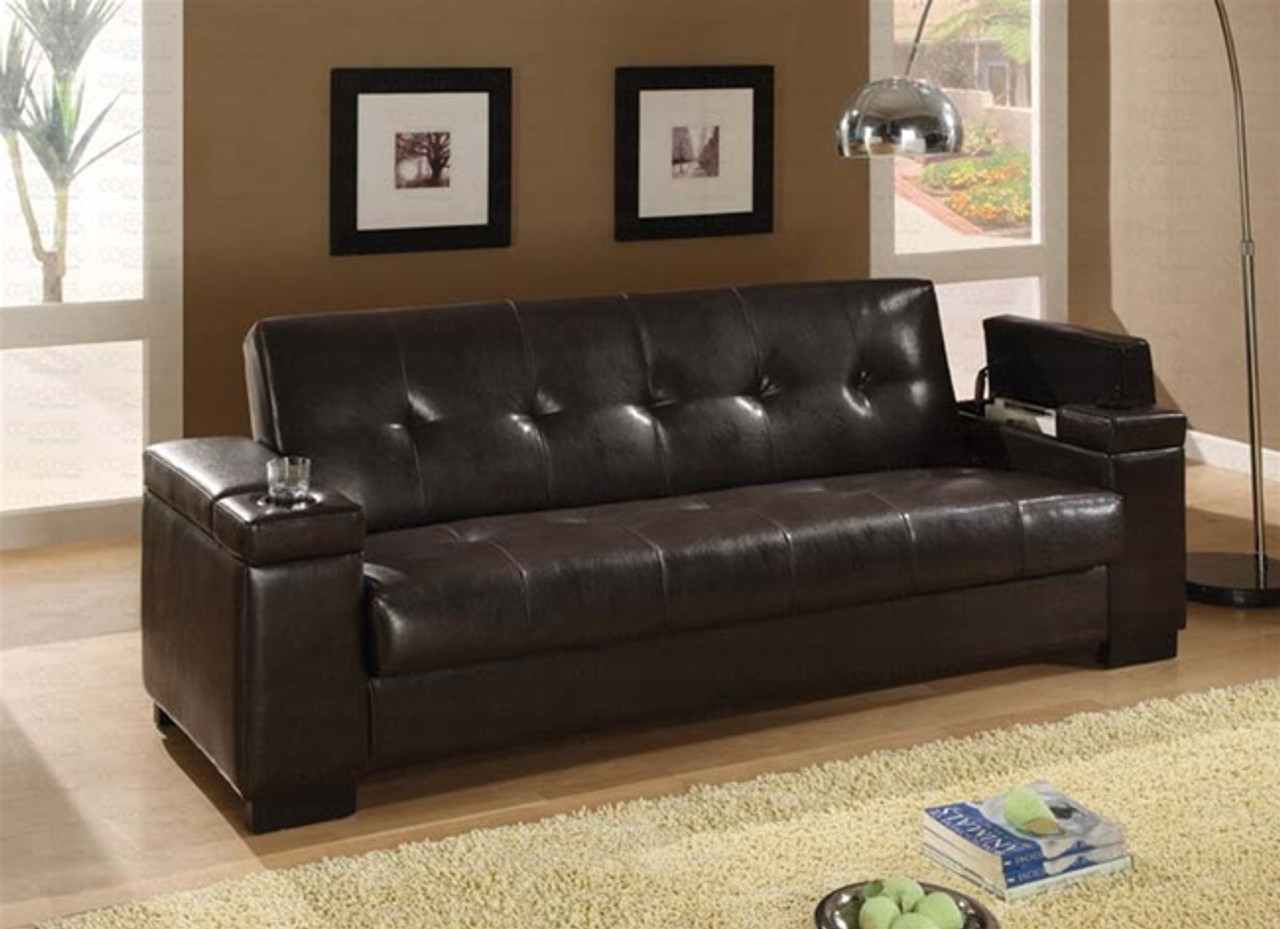 Etonnant Coaster Montego Convertible Leather Sofa 2