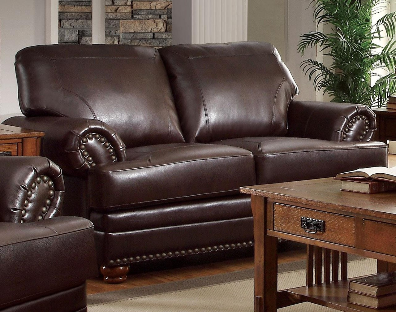 Coaster Colton Traditional Love Seat In Dark Brown