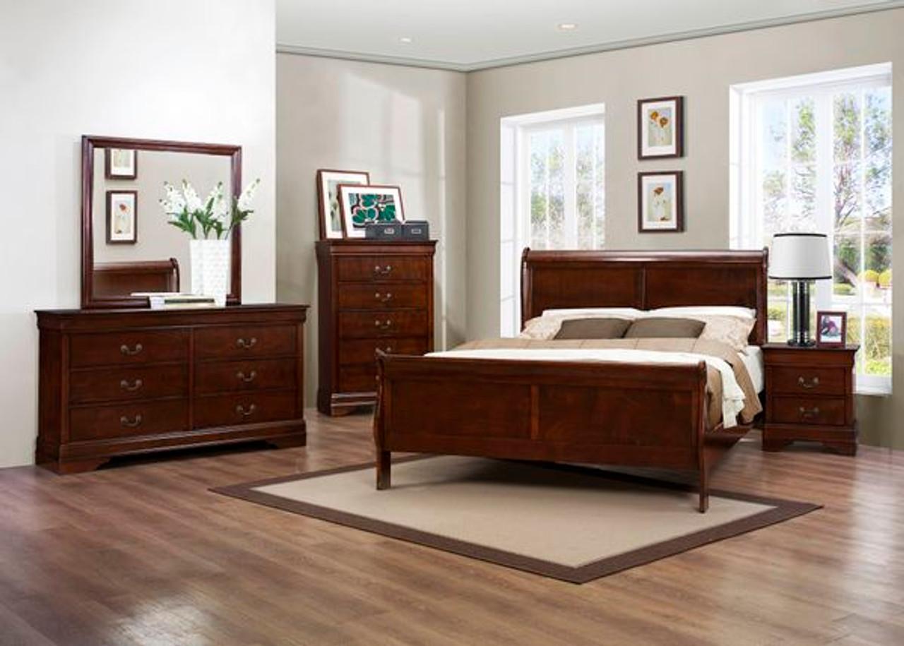 homelegance mayville 4piece bedroom set in cherry