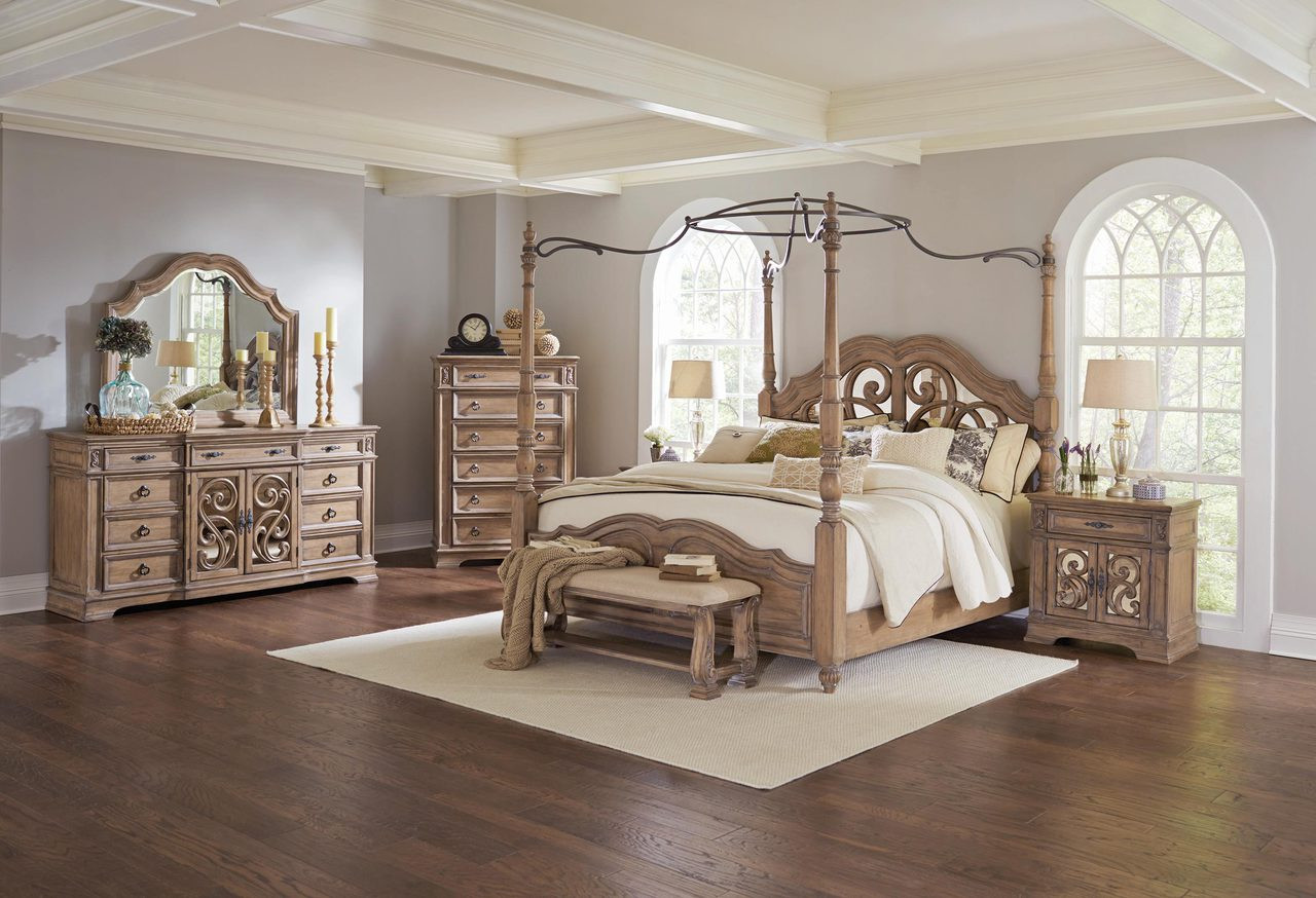 Coaster Ilana Collection Poster 5 Piece Bedroom Set in Driftwood ...