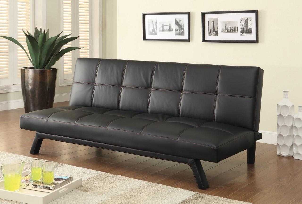 coaster butler sofa bed in black dealbeds com