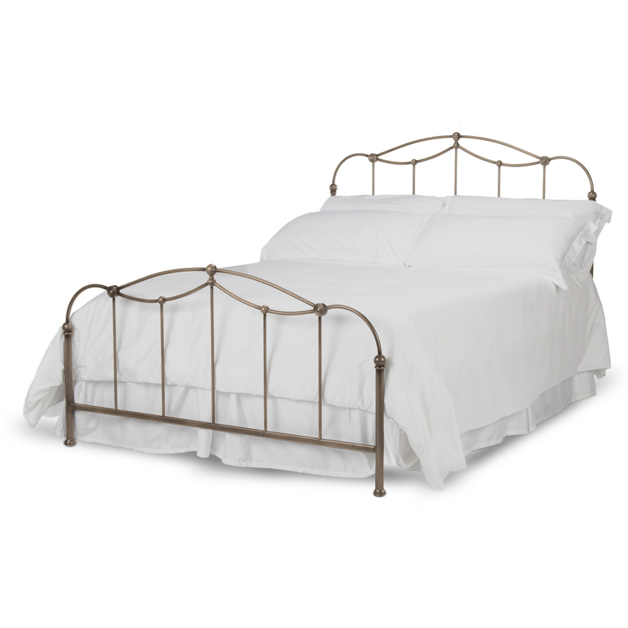 Fashion Bed Group Kalina Metal Panel Bed in Brushed Bronze ...