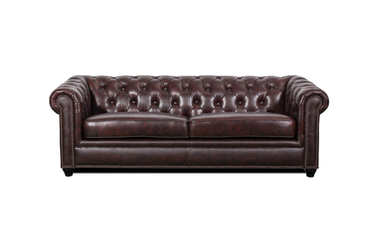 j graham parker genuine top grain leather chesterfield sofa 2 - Chesterfield Couch