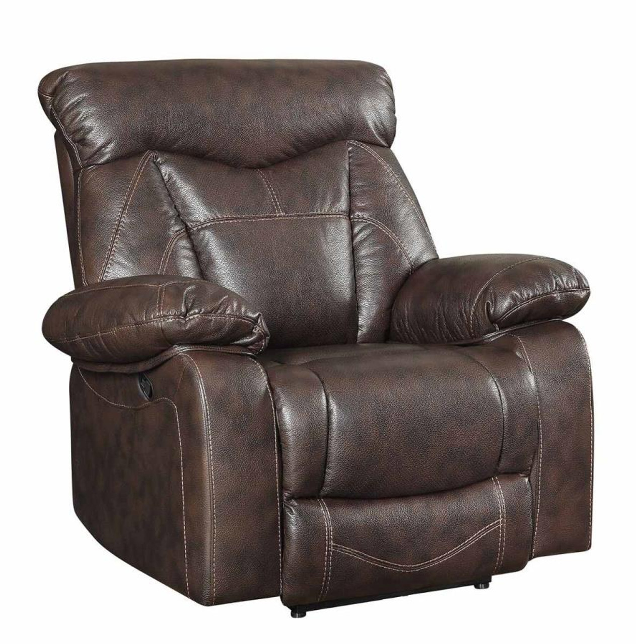 Coaster Zimmerman Recliner In Dark Brown Dealbeds Com