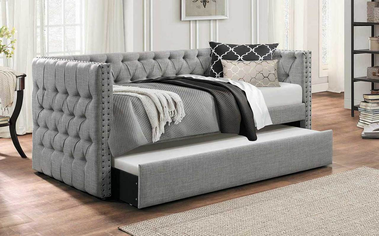 Idealbed Everest Button Tufted Upholstered Daybed With