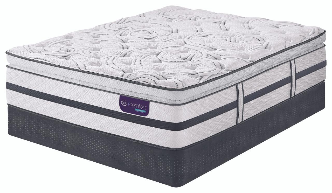 serta icomfort hybrid merit ii super pillow top mattress dealbeds com