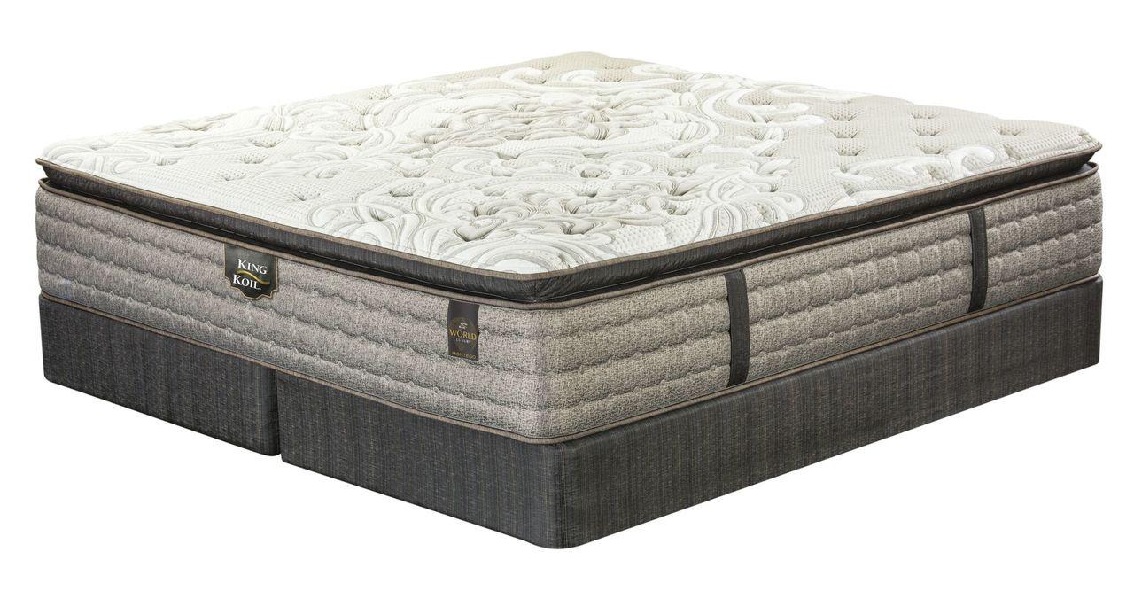 king pillow top mattress. King Koil World Luxury Montego Pillow Top Mattress