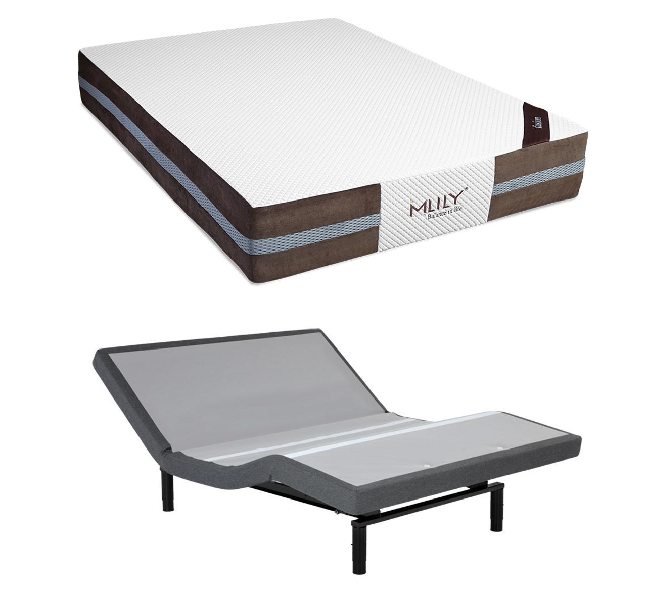 Serta Icomfort Reviews >> MLily Fusion Hybrid Latex Mattress with Leggett & Platt S-Cape 2.0 Adjustable Base Set ...