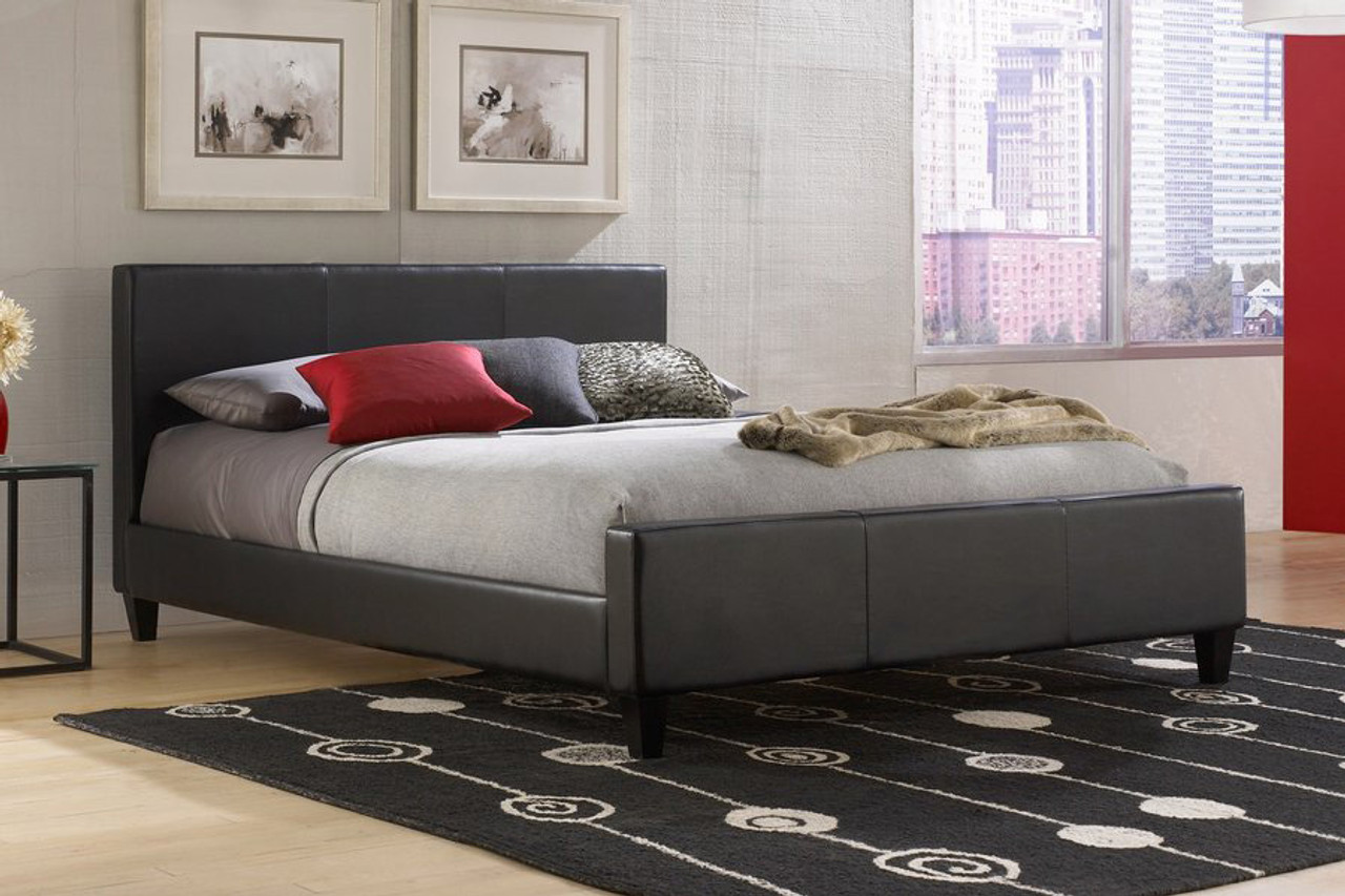 Fashion Bed Group Euro Upholstered Platform Bed Black Dealbeds Com