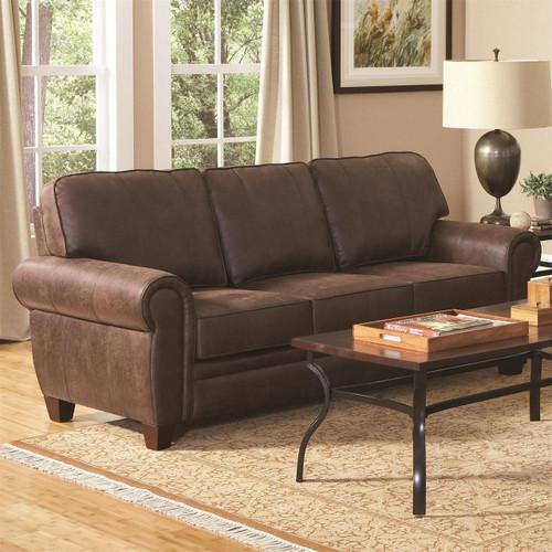 Coaster Bentley Rustic Styled Sofa In Brown