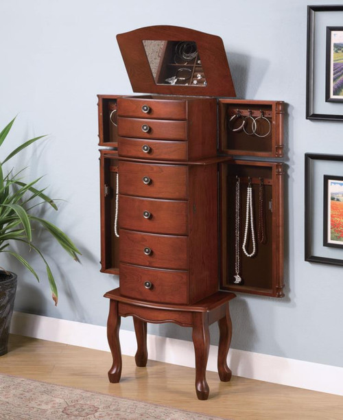 Coaster Courtney Jewelry Armoire In Brown Dealbeds Com