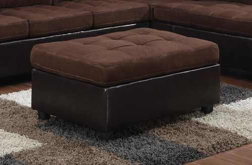 Coaster mallory casual ottoman in chocolate brown for Mallory material