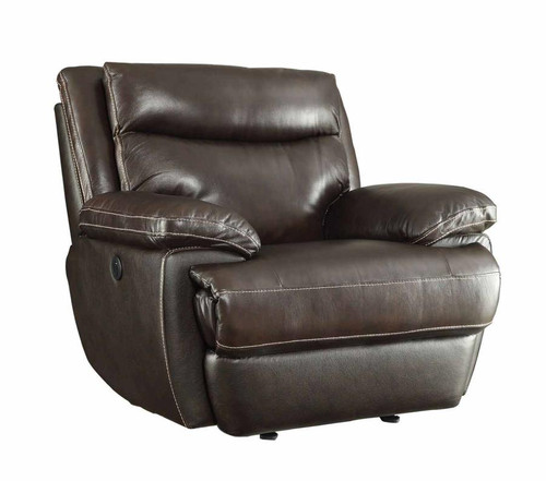 Coaster Macpherson Power Recliner In Cocoa Bean Dealbeds Com