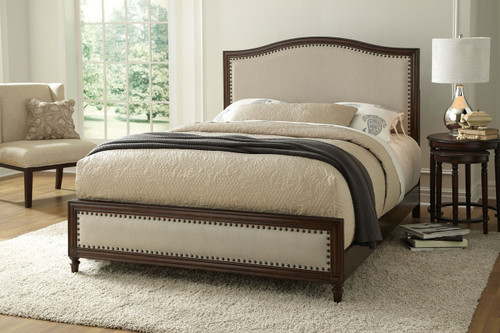 Fashion Bed Group Grandover Wood Upholstered Bed Espresso