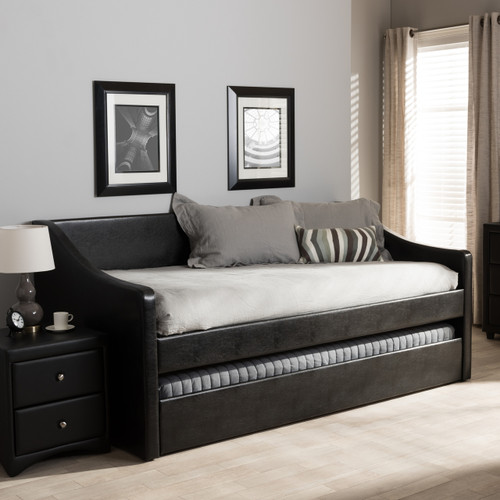 Baxton Studio Barnstorm Modern And Contemporary Black Faux