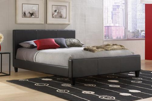Fashion Bed Group Euro Upholstered Platform Bed Black