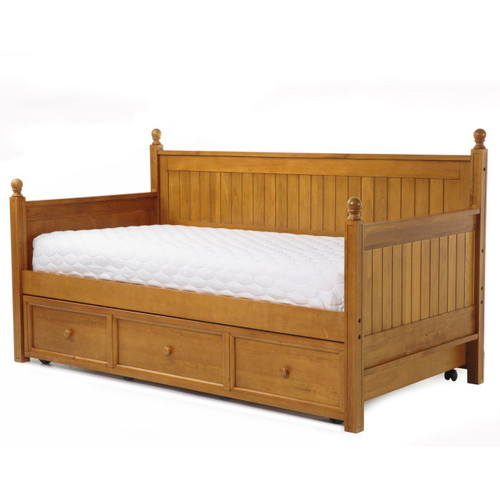 Fashion Bed Group Casey Daybed With Trundle In Honey Maple