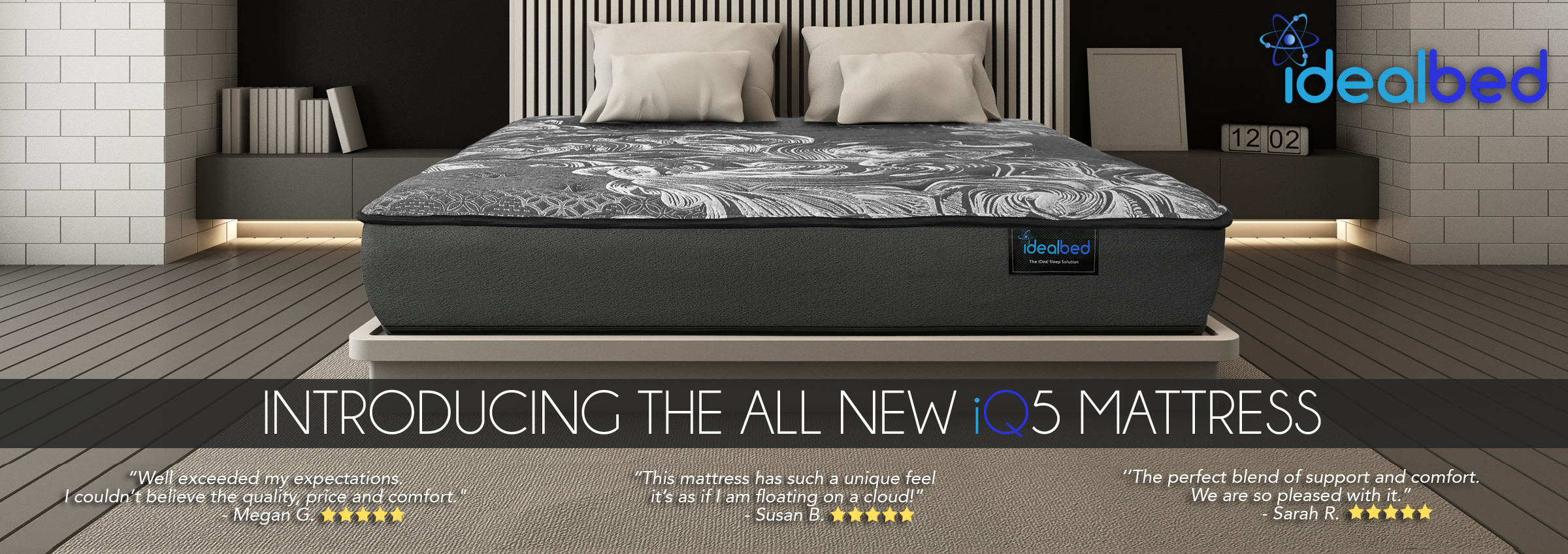 Introducing the iDealBed Luxe Series Hybrid iQ5 Mattress