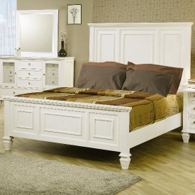 Coaster Sandy Beach Panel Bed In White Dealbeds Com