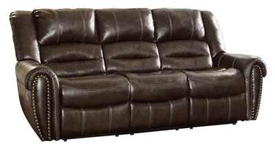 Homelegance Center Hill Brown Double Reclining Sofa
