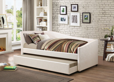 Idealbed Le Vue Modern Upholstered Curved Daybed With Roll