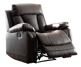 Homelegance Ackerman Collection Reclining Chair In Black