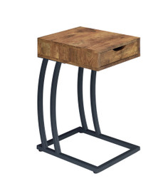 Coaster Skye Accent Chairside Table In Antique Nutmeg