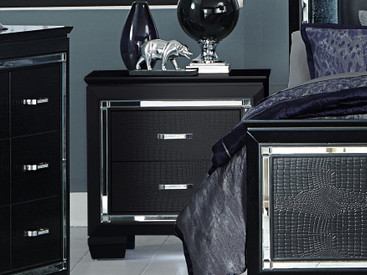Homelegance Allura Collection Nightstand In Black