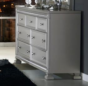 Homelegance Bevelle Collection Dresser In Dark Grey