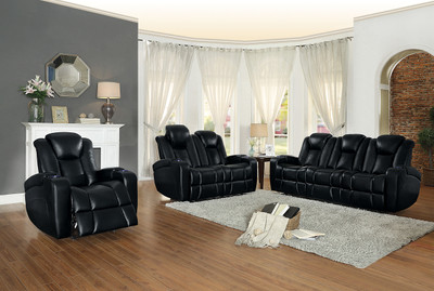 Homelegance Madoc Collection Recliner In Black Dealbeds Com