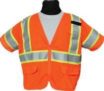 (3 TO 5 WEEKS BACK ORDER) SECO 8390 Economy Safety Vest - Flo Orange or Flo Yellow