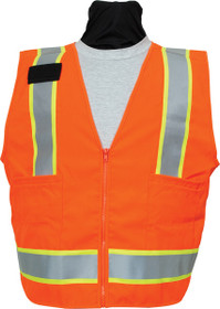 (3 TO 5 WEEKS BACK ORDER) SECO 8292 Safety Utility Vest- Flo Orange or Flo Yellow